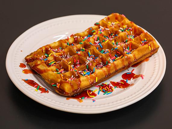 Waffles  con salsa (unidad)