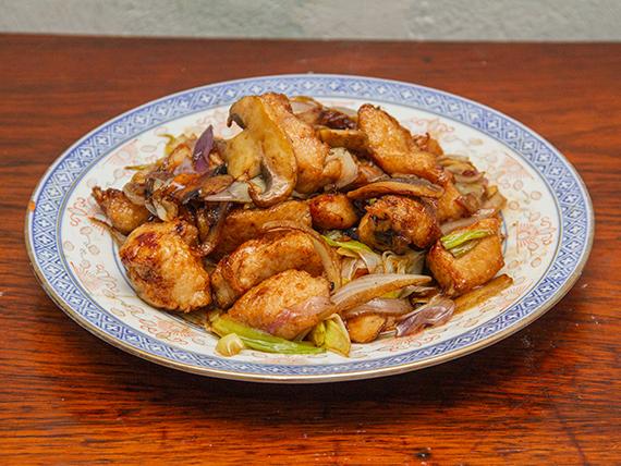 61 - Pollo con champiñones