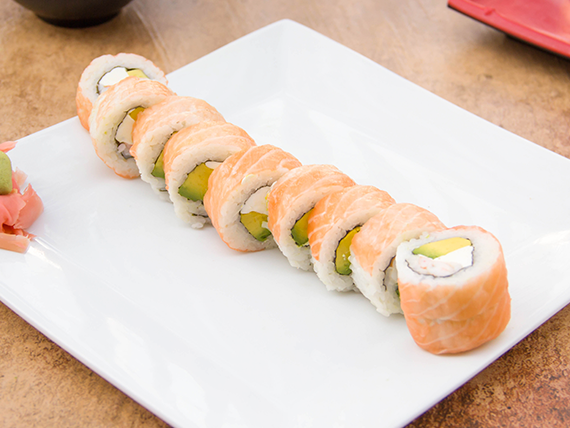 Sake ebi roll (10 piezas)
