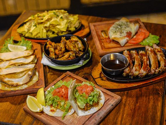 Bandeja de degustación mexicana