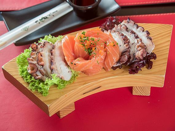 Sashimi mixto (12 cortes)