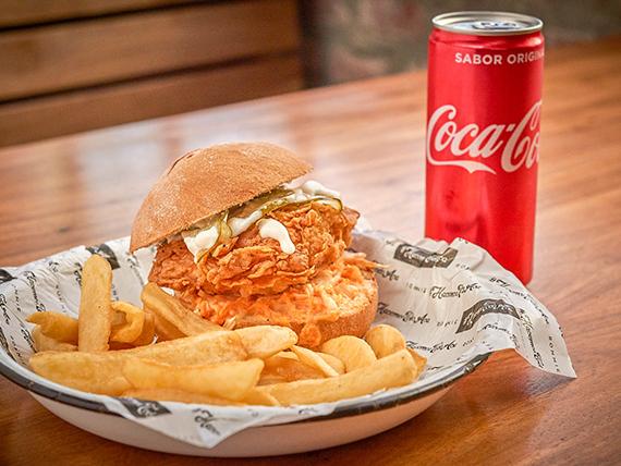 Promo - Mick sándwich con guarnición + bebida en lata o agua mineral