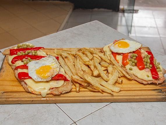 Suprema riojana con papas fritas (para 2 personas)