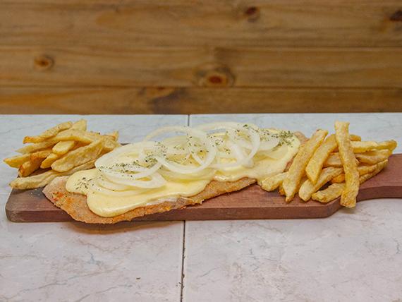 Suprema fugazzeta con papas fritas (para 2 personas)