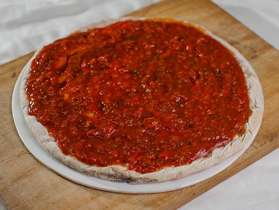 Pizzeta al rojo