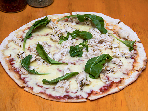 Pizza pollo al limón