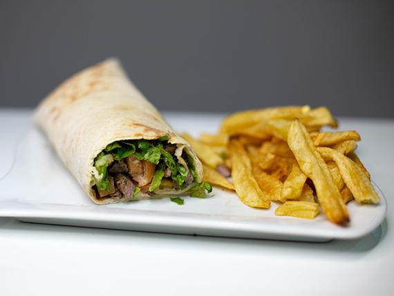 Shawarma de carne de ternera