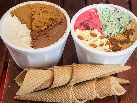 Combo yaguareté - 2 kg de helado + 10 cucuruchos