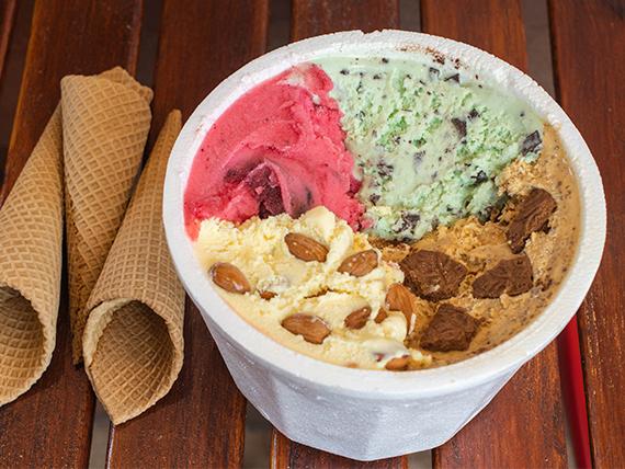 Combo el malcriado - 1 kg de helado + 3 cucuruchos