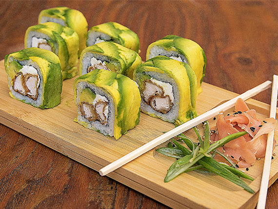 10 - Avocado tori roll