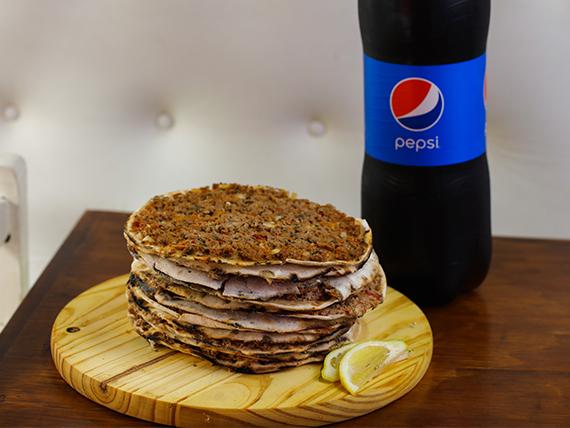 Promo - 12 lehmeyunes + gaseosa Pepsi 2.5 L