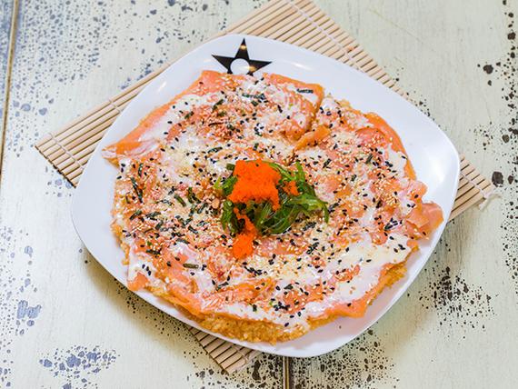 Pizza de Sushi Salmón
