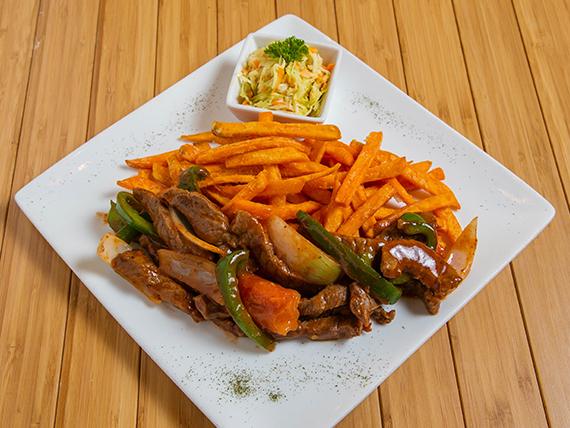 Bistec Picado con Vegetales