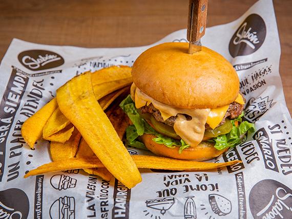 Retro burger clasica