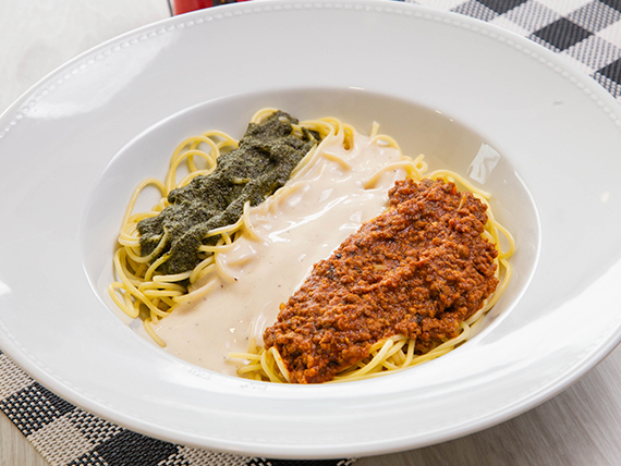 Pasta con salsa Trio Gemelli´s