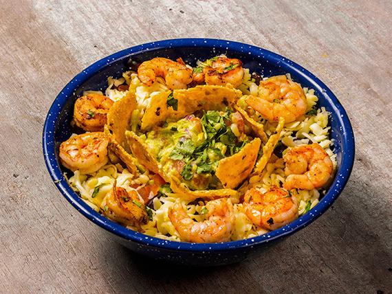 Taco salad camarón