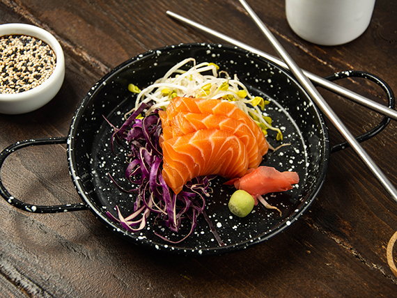 Sashimi de salmón fresco (unidad)