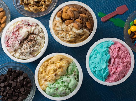 Promo Relampamigos - 4  1/4 kg de helado +  4 tacitas