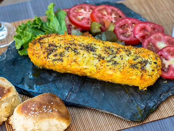 Menú vegetariano - Budín de calabaza y brócoli