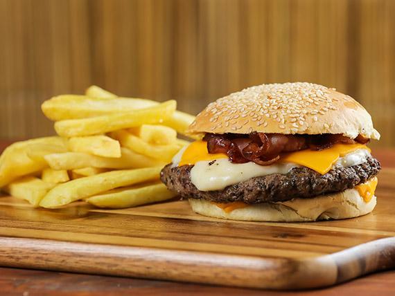 Burger Bros con guarnición