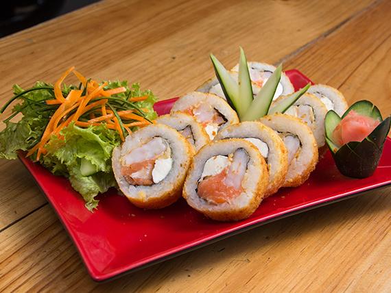 Sake ebi tempura roll (10 unidades)