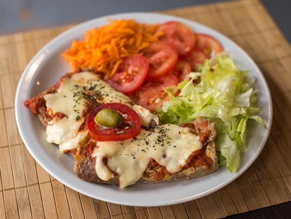 Sugerencia del día - Matambre a la pizza guarnición