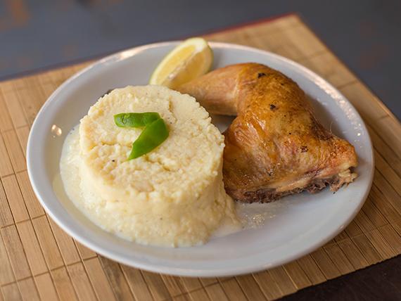 Sugerencia del día - Pollo al horno con guarnición