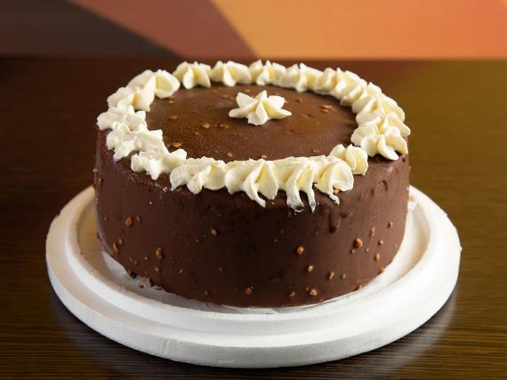 Torta helada de crema americana y chocolate