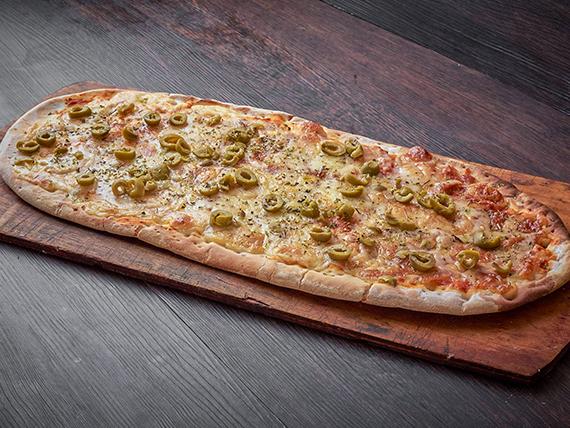 Pizza muzzarella (8 porciones - al molde)