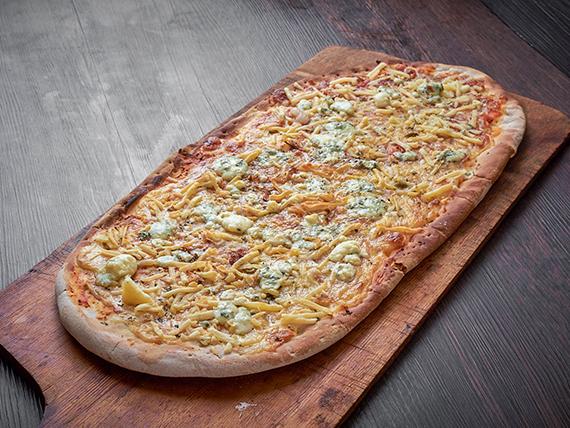 Pizza variedad de quesos (8 porciones - al molde)