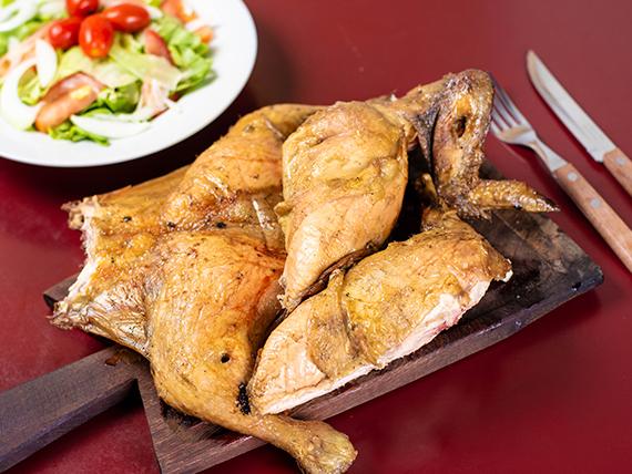 Promo 4 - Pollo al asador + papas fritas