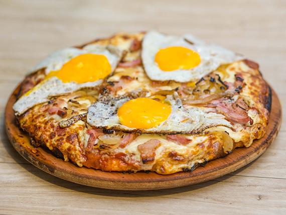 Pizzeta Panceta y cebolla