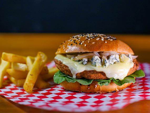 Burger veggie blue cheese