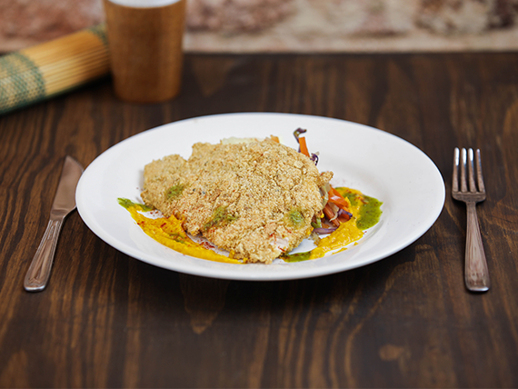 Menú lunes - Milanesas de carne magra con ensalada