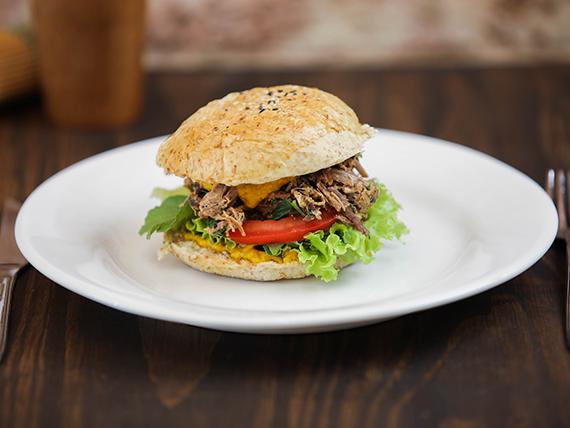 Sándwich de carne magra