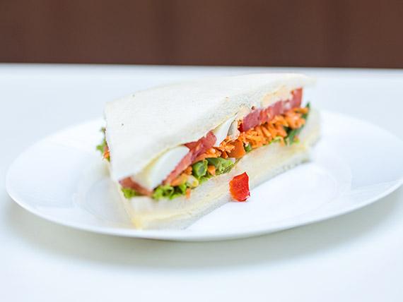Sándwich olímpico vegetariano