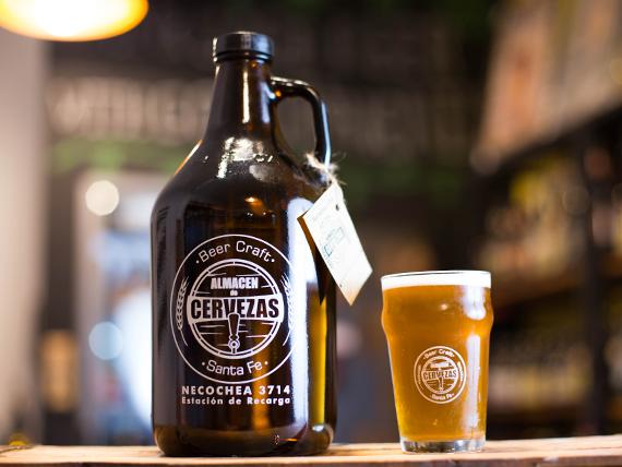 Cerveza Darwin growler 2 L