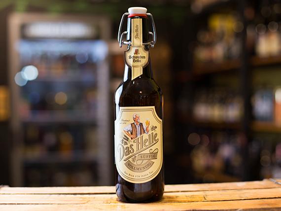 Cerveza Das Helle blonde lager 500 ml