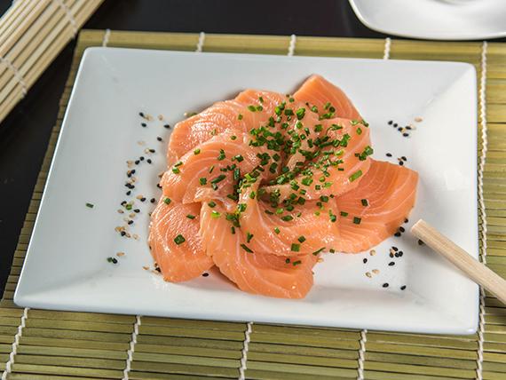 Sashimis de salmón