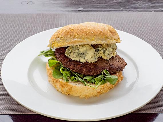 Hamburguesa gourmet al roquefort