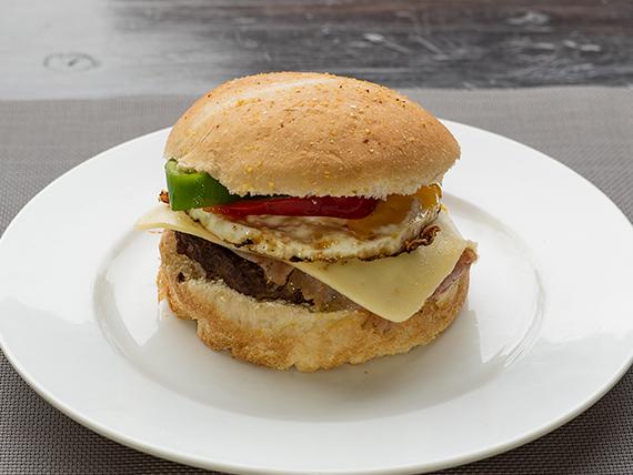 Hamburguesa gourmet italiana
