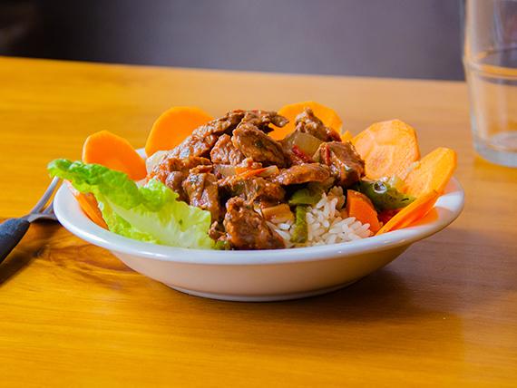 Ternerita guisada con arroz
