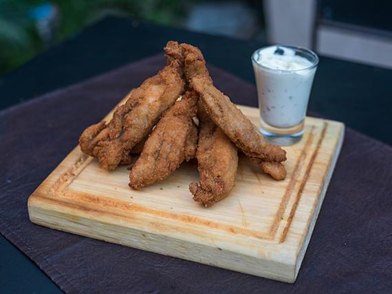 Bastoncitos de pollo crocantes