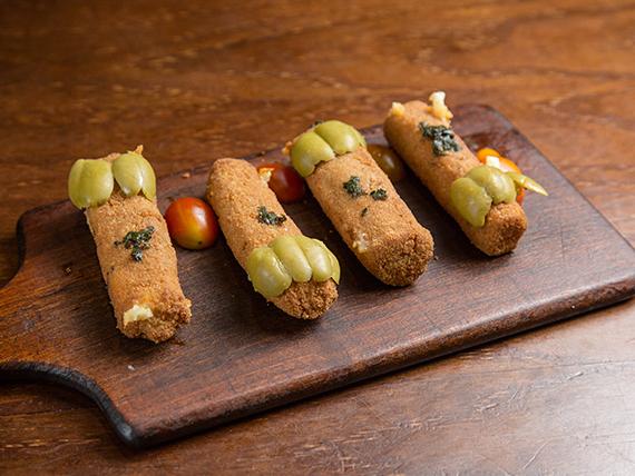 Bastones de mozzarella (4 unidades)