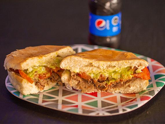 Combo 3 - 2 sándwiches de churrasco italiano + 2  bebidas Pepsi 330 ml