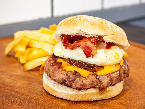 Sándwich de hamburguesa gourmet Munich