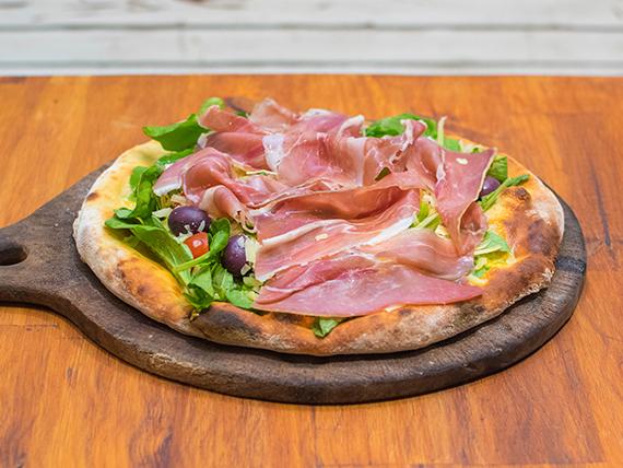 Pizza con rúcula