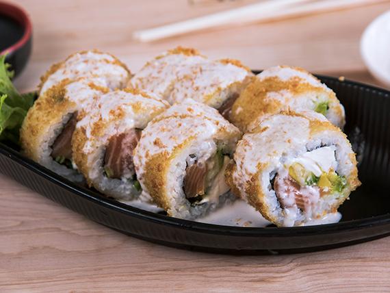 Acevichado sake roll (8 unidades)