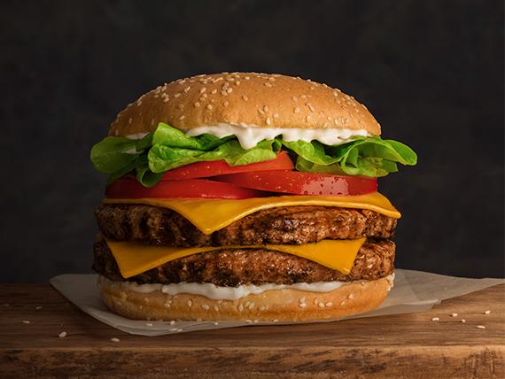 Combo - Hamburguesa doble Juan + papas fritas medianas + bebida Pepsi 350 ml