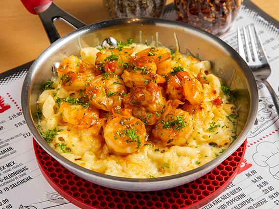 Pasta mac garlic shrimp